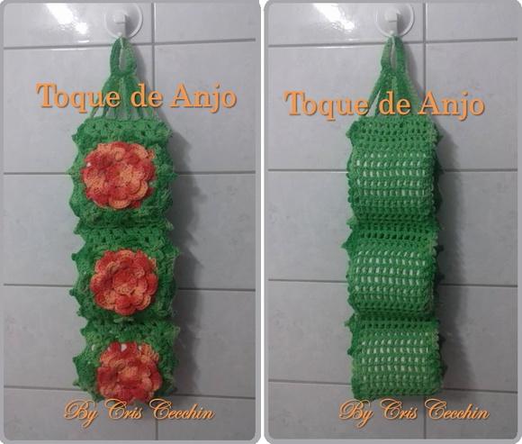 Porta Papel Higi Nico De Croch Toque De Anjo Croche Elo7