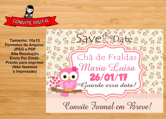 Save the date/Convite Digital Infantil