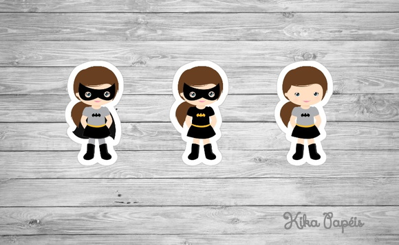 Aplique Batman Girl 3,5 cm