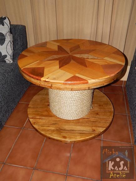 Mesa de madeira rustica elo7 - Mesa de centro rustica ...