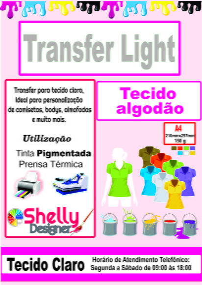 Papel Transfer Light jato de tinta