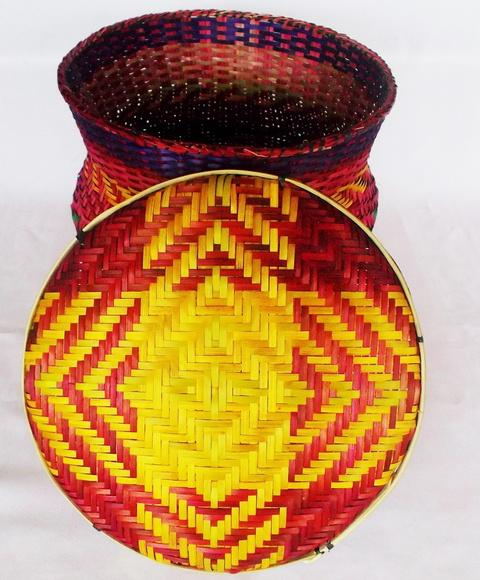 Artesanato Folclorico Da Região Sul ~ Cesto Decoraç u00e3o Ambiente Indígena 25x25x no Elo7 CRI IVONE ARTES (76CD8A)