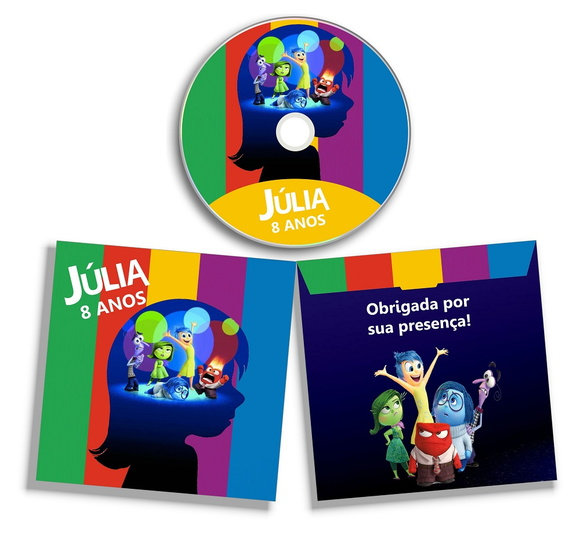 Dvd ou Cd personalizado Divertidamente