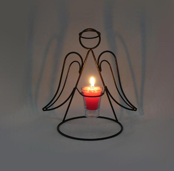 Enfeite De Vela ~ Anjo Porta Vela Natal Castiçal VELITAS Velas e Ferros decorativos Elo7