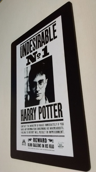 Placa Harry Potter em MDF Adesivada
