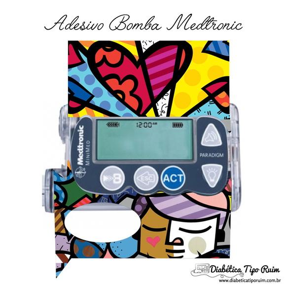 Adesivo De Espelho Parede ~ Adesivo Skin Romero Medtronic MiniMed Adesivos p bomba de insulina! Elo7