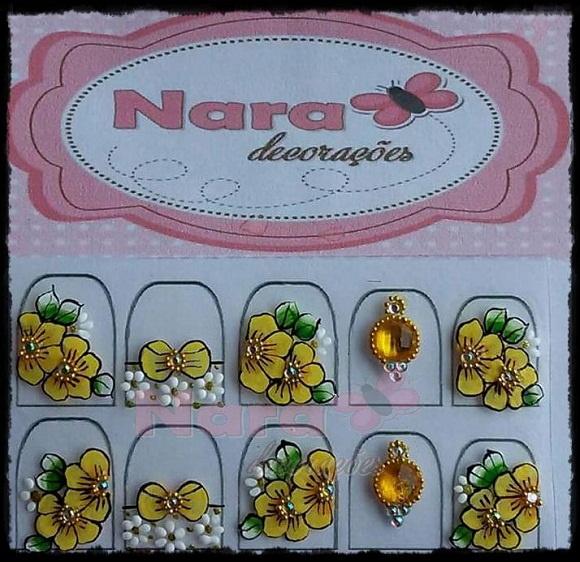 Aparador De Sala Branco ~ Adesivo De Unha flor e jóias Nara Decorações Elo7