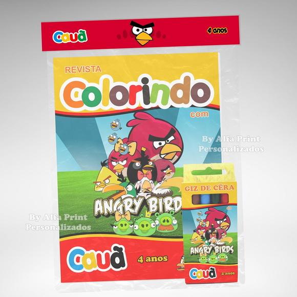 Kit Colorir Angry Birds + Super Brindes No Elo7