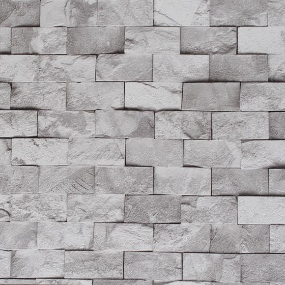 Papel de parede tijolinho cinza crie decore elo7 - Papel plastificado para paredes ...