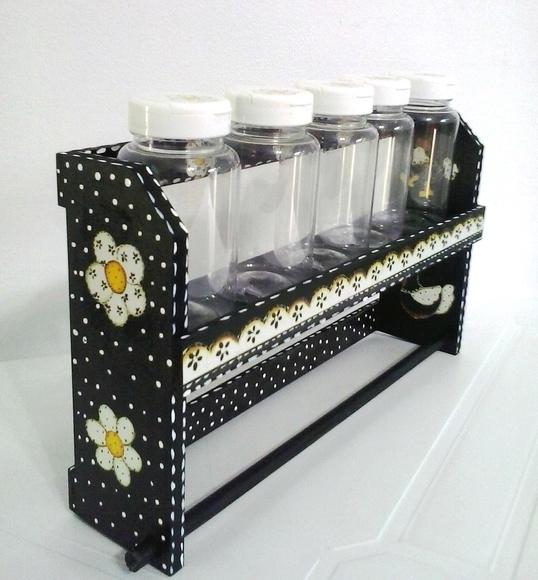 Porta tempero e papel toalha no elo7 by cherry for O que e porta condimentos