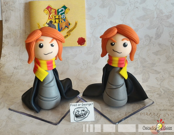 Fred e Jorge chibis - Harry Potter