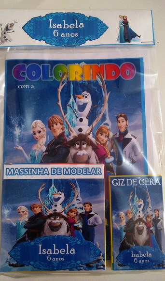 kit para colorir com Massinha Frozen