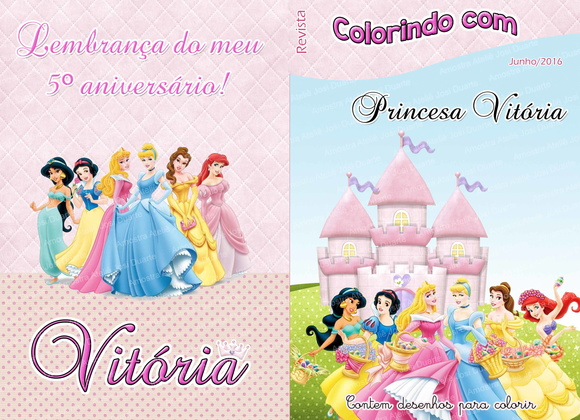 Revistinha de colorir Princesas