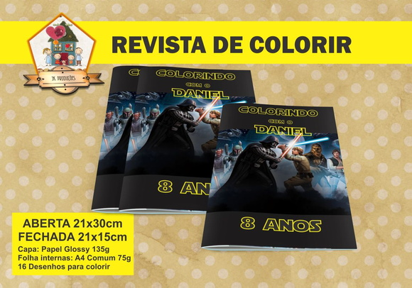 Revista Para Colorir STAR WARS