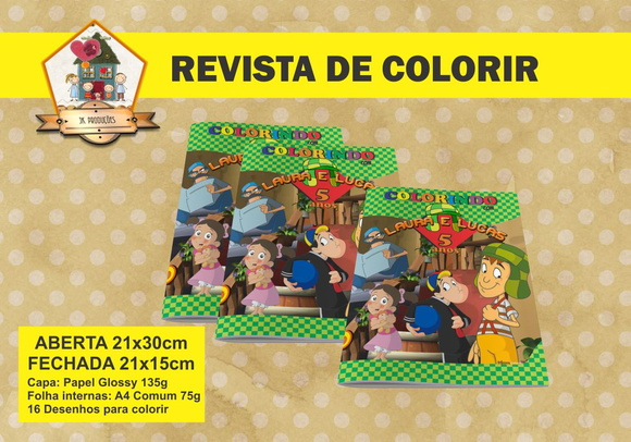 Revista Para Colorir CHAVES