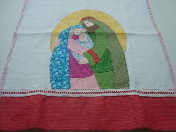 Artesanato pano de copa de natal patchwork