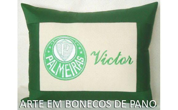 e7c70d1c3a Almofada Bordada Futebol Palmeiras