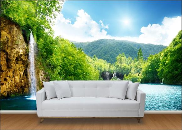 Papel de parede 3d paisagens floresta up adesivos 3d - Papel adhesivo para paredes ...