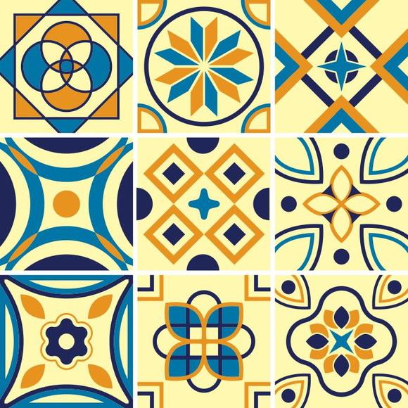 Adesivo de azulejo amarelo kit 15x15 cm no elo7 sunset for Azulejo 15x15