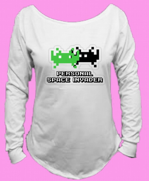 CamisetaSpace Invaders Canoa Longa 7