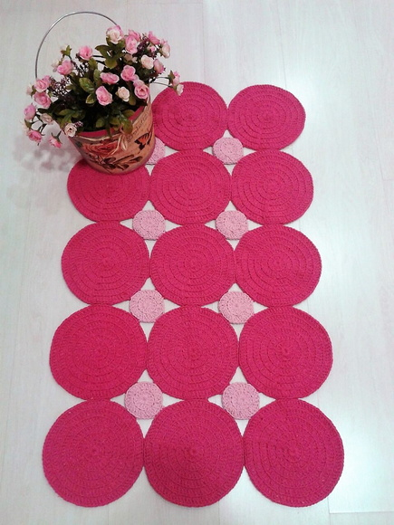 Tapete bolas pink marcia sartori elo7 for Tapete pink