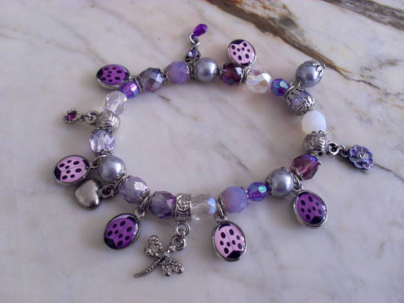 Off ~ Bracelete Cristais LadyBug's Party