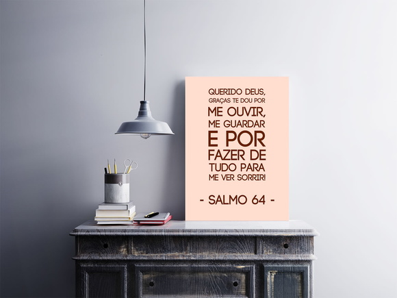 "Placa decorativa ""Salmo 64"""