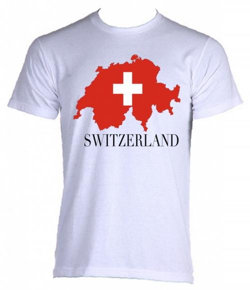 Camiseta Raglan Bandeira Suica  a150644e7e8b6
