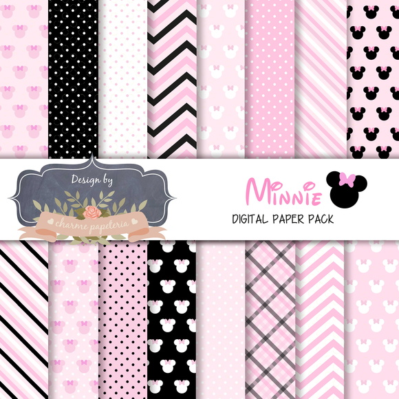Papel Digital Minnie Rosa
