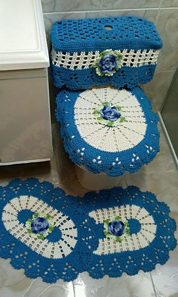 Jogo De Banheiro Completo : Jogo de banheiro completo cantinho da artes elo