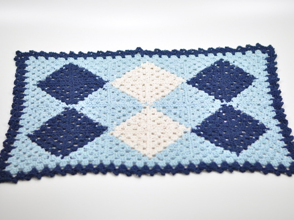 Tapete patch azul
