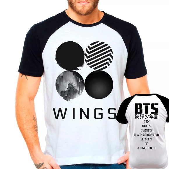 Camiseta Bts Wings Integrantes