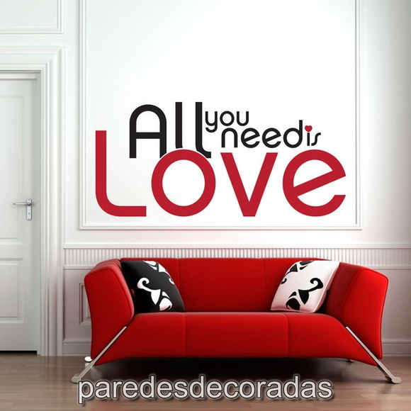 Adesivo Frase All You Need Is Love