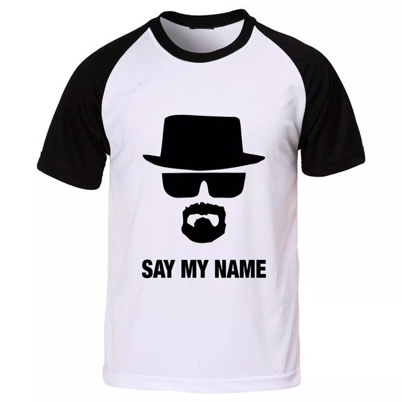 camiseta breaking bad say my name elo7. Black Bedroom Furniture Sets. Home Design Ideas