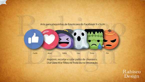 Arte digital - Emoticons do Halloween