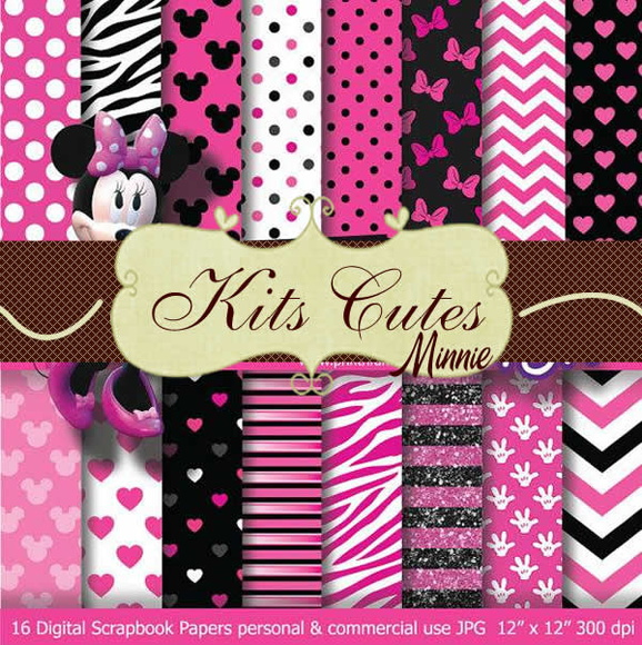Kit Papéis Minnie 05