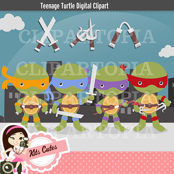 Kit Digital Tartarugas Ninjas 02