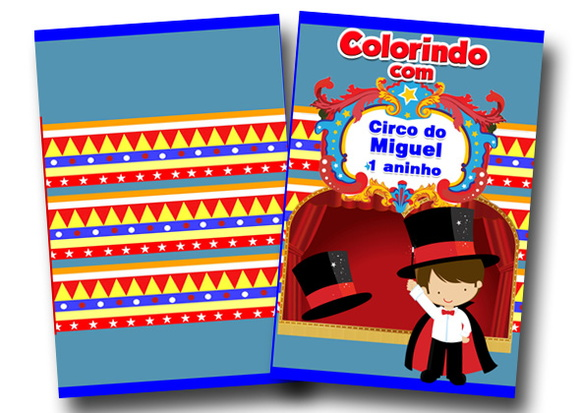 revista colorir circo