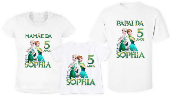 KIT 3 Camisetas frozen