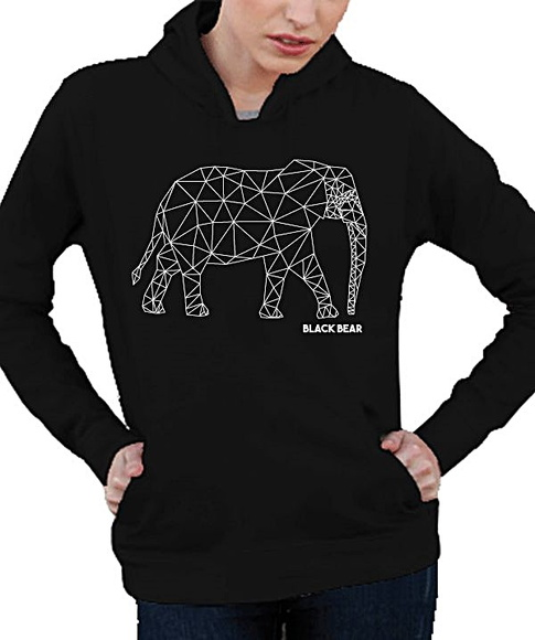 AGASALHO MOLETOM - BLACK BEAR - ELEPHANT