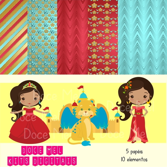 Kit Digital Elena de Avalor Cute