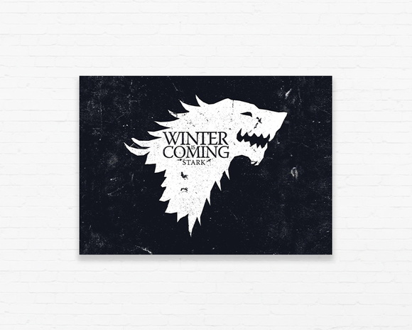 Quadrinho 19x27 Winter is Coming