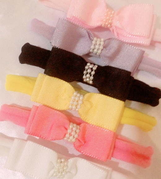 KIT 6 HEADBANDS BEBE- MEIA DE SEDA