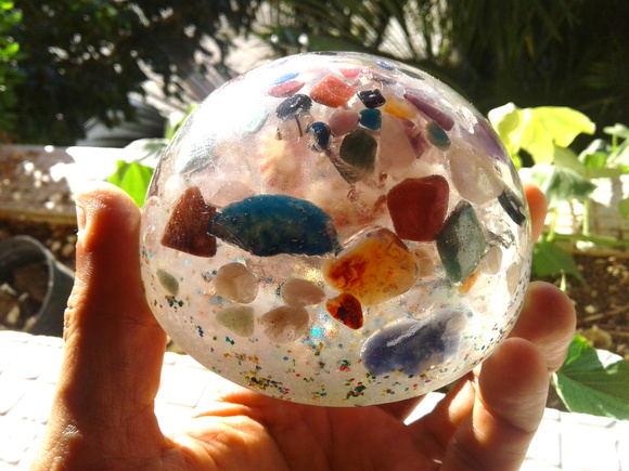 Orgonite de Cristais Dome Incolor