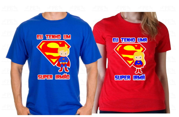 Kit camisetas Super Irmãos