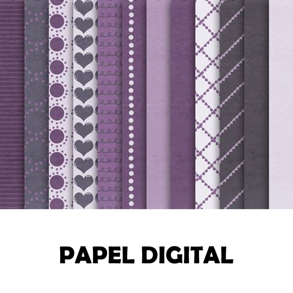 Papel Digital Tons de Violeta