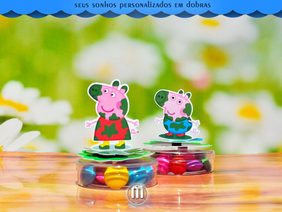 Latinha acrilica Mint to be Peppa Pig