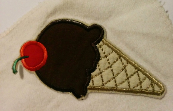 Patch Bordado Termocolante Sorvete Doces