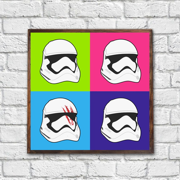 Quadro Decorativo Star Wars c Moldura QD