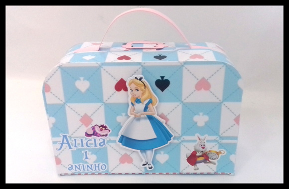 Maleta Papel Alice no Pais